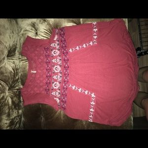 Free people gorgeous embroidered top. Size XS